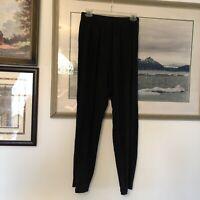CP Shades Black Elastic Waist Texture Pants Lagenlook Sz S A1935