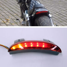Motorcycle LED Turn Signal With Brake Tail Lights Red For Harley Chopper Bobber