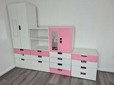 Ikea Stuva Kids Childrens Furniture Set  Wardrobe Storage Pink White