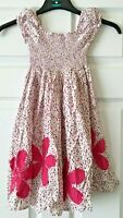 Girls BlueZoo Summer Dress Pink Spotty Floral Floaty Party Holiday 6 Years B64