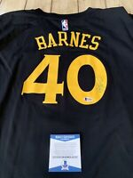 Harrison Barnes Autographed/Signed Jersey COA Golden State Warriors Finals