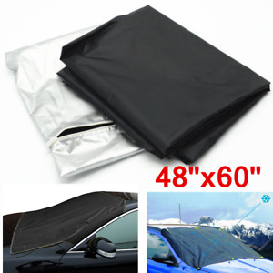 "48""x60"" Universal Car Windshield Snow Cover Truck Ice Protector Sun Shield Pouch"