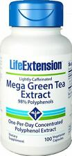 Life Extension Mega Green Tea Extract (lightly caffeinated)  100 capsules