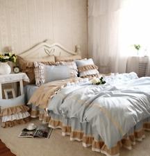 Lace Bedding Set Flounces Lattice BlockPrincess Bedding Ruffle Duvet Cover Sets