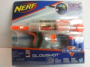 NERF Glowshot N-Strike Single Shot Blaster 3 Elite Darts Hasbro Light Up NEW