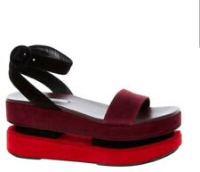 Authentic Prada Red and Purple Double Sole Sandals. UK 8 / 41. Designer. BNWB