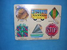 """Geometric Shapes Puzzle by Lights, Camera, Interaction, 1996 9"""" x 11 1/2"""""""