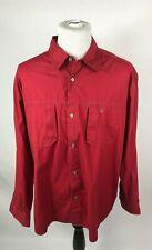 Aigle Men's Red XXL Long Sleeve Button Down Shirt