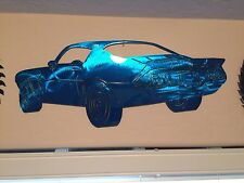 1971 Camaro rear view  Kandy blue metal man cave sign garage art  Chevrolet