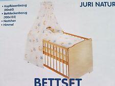Zöllner, Bettset Juri, beige, 3-teilig für Kinderbett, Neu OVP