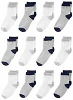 Simple Joys by Carter's Baby Boys' Toddler 12-Pack Sock, Gray, White, Size 2T/3T