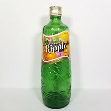 VTG Old Ripple Wine Bottle Pagan Pink Green Sculpted Label & Cap Intact 10""