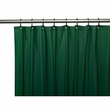 Carnation 3 Gauge Vinyl Shower Curtain Liner Weighted Grommets Evergreen 72x72