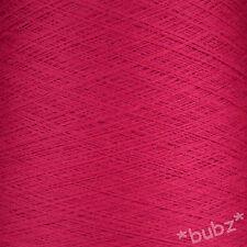 Zegna Baruffa extra fine pura lana merino 2/60s Cerise Rosa filato 1 strati TELA DEL RAGNO