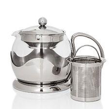 Glass Teapot with Herbal Infuser 750 ml Capacity & Built in Tea Strainer
