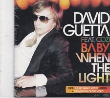 David Guetta-Baby When The Light cd maxi single 5 tracks cardsleeve sealed