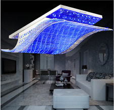 K9 Crystal Chandelier Remote Control Colorful LED Home Ceiling Lighting Fixtures