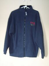 United States Olympics Blue Fleece Jacket Size XL Made in USA