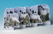 The Nutmeg Company White Christmas De-Luxe 3D Counted Cross Stitch Kit 14 Count