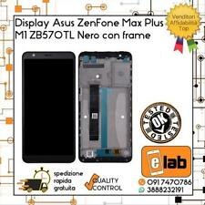 DISPLAY LCD TOUCH SCREEN ASUS ZENFONE MAX PLUS M1 ZB570TL NERO CON FRAME X018D