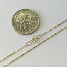 "10K 16"" Inch .8mm SOLID YELLOW GOLD CUBAN CURB LINK NECKLACE CHAIN ITALY"