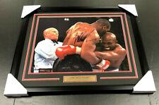 Mike Tyson EAR BITE EVANDER HOLYFIELD Autographed 16x20 Photo Framed BAS COA