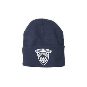 Outdoor Navy Blue Israeli Police Embroidered Watch Cap - USA Made - One Size