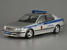 Saab 9-5 Moscow Police Swedish Auto 1997 Year 1/43 Scale Rare Diecast Model Car