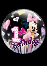 Pink Minnie Mouse 1st Birthday Bubble Balloon