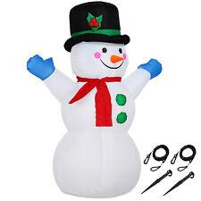 Monzana Bonhomme de neige XL 120cm gonflable décoratif LED avec pompe Noël Fêtes