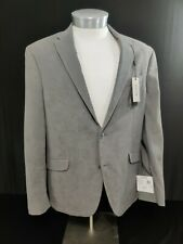 NEW MENS KENNETH COLE REACTION GRAY FAUX SUEDE SPORT COAT 42 REGULAR $295