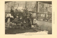 On board the Dundee Steamer. Scotland passengers 1878 antique ILN full page
