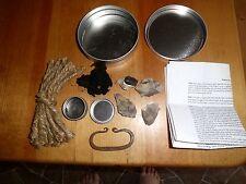 primitive fire starting kit flint & steel striker prepper waterproof home forged