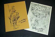 WALLY  WOOD SKETCHBOOKS #1 & 2 Limited Ed/1500 ea. Wallace EC Fantasy '81/'82