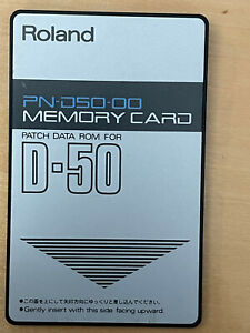 Roland PN-D50-00 Memory Card Patch Data ROM for D-50 Roland Memory Card