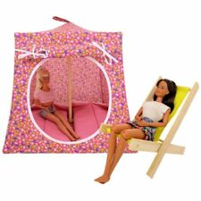 Pink, small flower print Toy Play Pop Up Tent, 2 Sleeping Bags, handmade