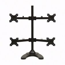 """Quad LCD Desktop Monitor Laptop Table Weighted Base Mount Adjustable Up to 27"""""""
