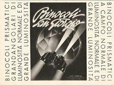 W2709 Binocoli SAN GIORGIO - Pubblicità del 1940 - Old advertising