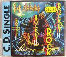 DEF LEPPARD CD Rocket 1988 UK Orig. 3 TRACK / Rock Of Ages LIVE / Release Me