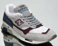 New Balance 1500 Made in UK Men's Grey Blue Burgundy Athletic Lifestyle Sneakers