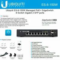 Ubiquiti EdgeSwitch 8 ES-8-150W Managed PoE+ Gigabit Switch with SFP 2 SFP Port