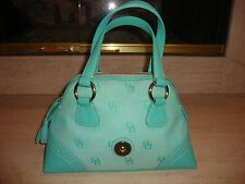 STYLISH NEW DOONEY & BOURKE HANDBAG IN MINT GREEN CANVAS & LEATHER