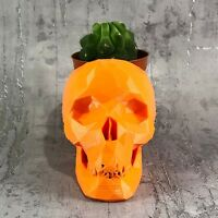 Skull Low Poly Cactus Plant Holder - Gothic Wedding - Home Decor - New Home Gift