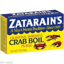 Lot of Four 3 oz Boxes, ZATARAIN'S CRAWFISH SHRIMP & CRAB BOIL FROM NEW ORLEANS