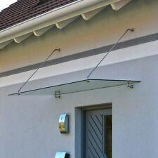 HOME DELUXE Glasvordach Edelstahl 150x90x1,2cm VSG Haustür Vordach inkl. Halter