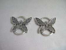 10 x Tibetan Silver Tone Butterfly Charms Connectors Links Bracelet Findings