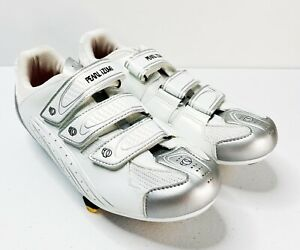 PEARL IZUMI Select RD White Silver Sz 10 US   42 EU - Women Cycling Shoes