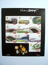 "Bloc-Timbre  , Football Euro 2004 "" ( 10 timbres ) PORTUGAL "" ( neuf )"