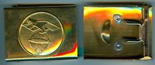 Zeppelin:Koppelschloss,Messing für 45 mm Koppelriemen.Auflage Original . 1 Stück