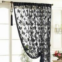 String Curtain Butterfly Pattern Tassel Window Door Room Curtain Divider Scarf